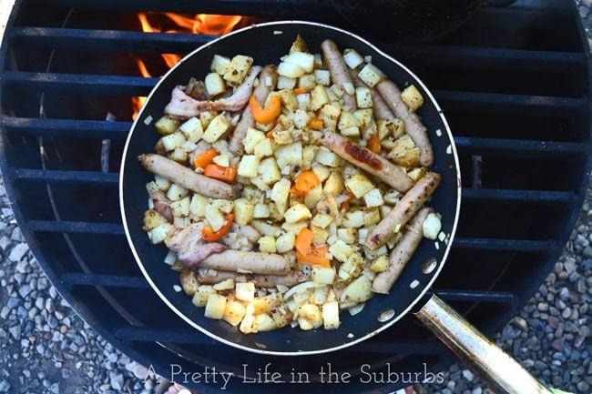 Sausage-Breakfast-Skillet-{A-Pretty-Life}