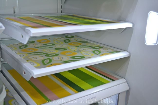 DIY Fridge Mats {A Pretty Life}