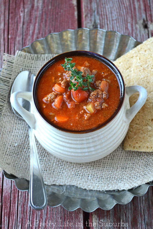 Hamburger Soup {A Pretty Life}