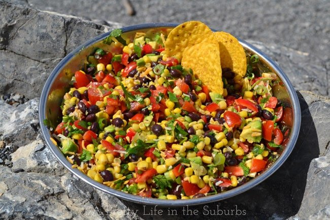 Mexican Bean & Corn Salad {A Pretty Life}