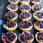 A tray of Saskatoon Berry Butter Tarts