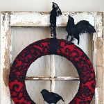 Halloween Crow Wreath