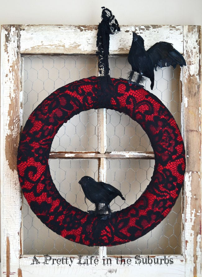 Crow Wreath, shared by A Pretty Little Life in the Suburbs