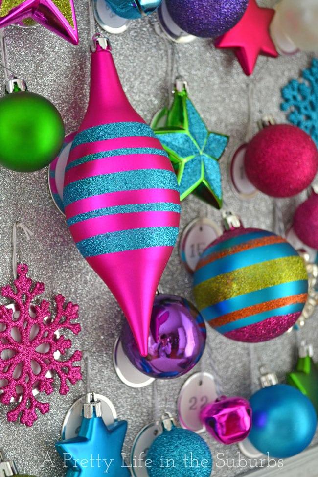 Ornament Advent Calendar {A Pretty Life}