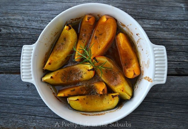 Roasted Brown Sugar & Rosemary Squash