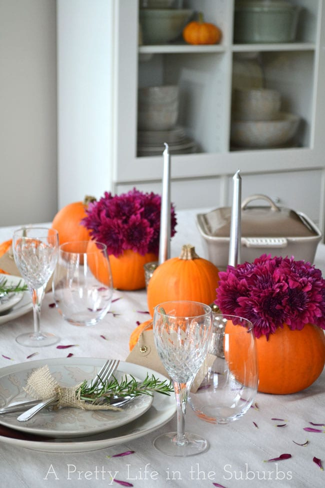 Simple ideas for a thanksgiving table setting a pretty Simple thanksgiving table decorations
