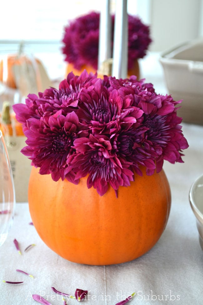 Pumpkin Flower Bouquets {A Pretty Life}
