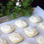 Eggnog Ice Box Cookies with Eggnog Glaze