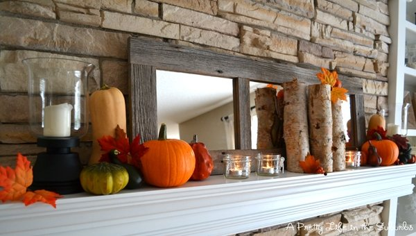 My Fall Inspired Mantel A Pretty Life In The Suburbs – Fall Mantel Decorations
