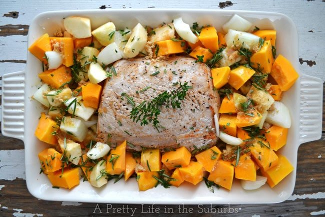 Herb Roasted Pork, Butternut Squash & Apples