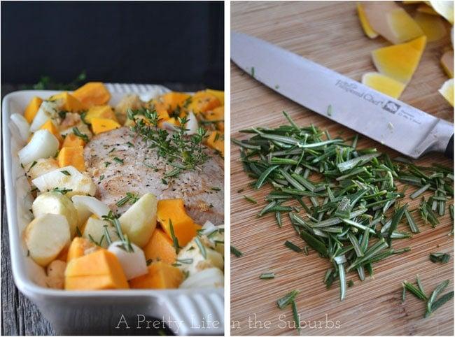 Herb Roasted Pork, Butternut Squash & Apples