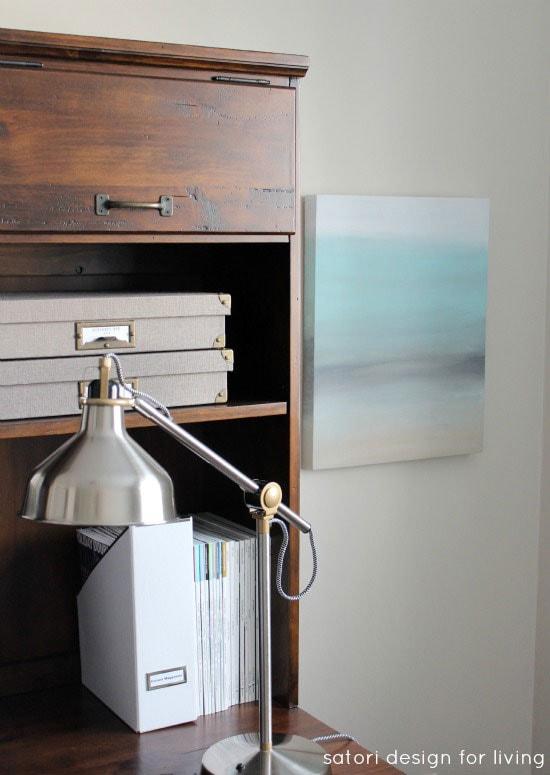 Office-Makeover-Art-Canvas-Nickel-Lamp