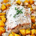 Oven Roasted Pork with Rosemary Brown Sugar Squash