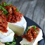 Brie with Sun Dried Tomatoes Appetizer