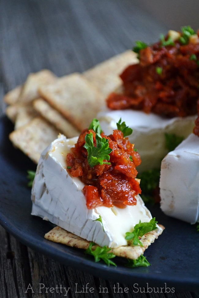 Brie with Sun Dried Tomatoes
