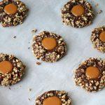 Chocolate Caramel Turtle Cookies Recipe