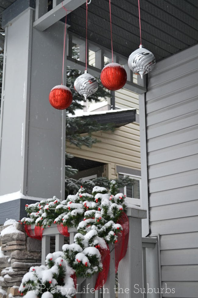 Wintery Red And Silver Front Porch A Pretty Life In The