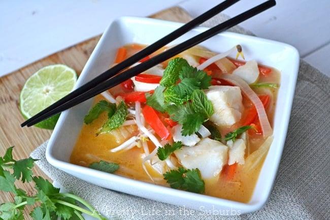 Coconut Curry Fish Chowder 2{A Pretty Life}