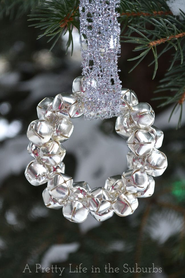 Easy silver bells wreath ornament a pretty life in the