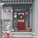 Red and Silver Christmas Porch-1