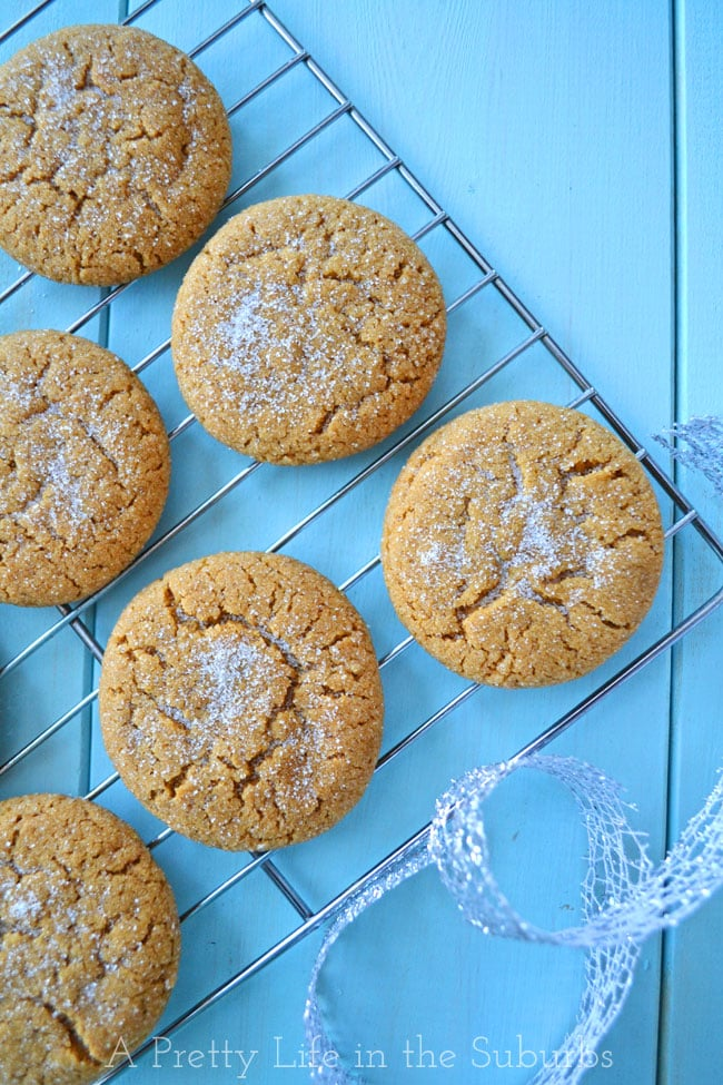 Soft-&-Chewy-Ginger-Cookies-2-{A-Pretty-Life}