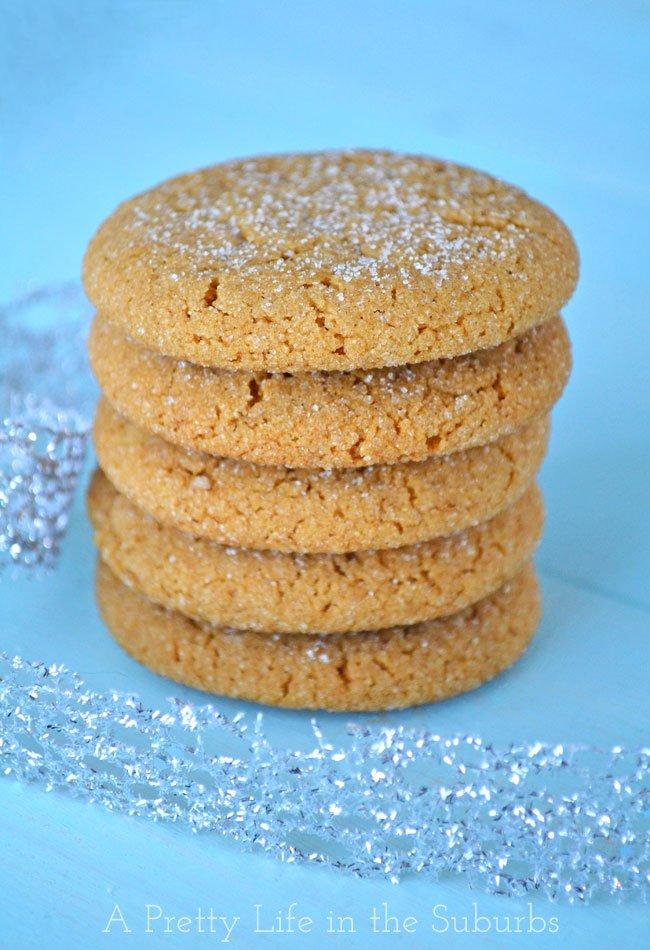 Soft-&-Chewy-Ginger-Cookies-{A-Pretty-Life}