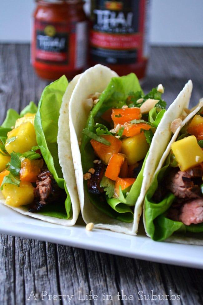 Spicy Orange Beef Tacos