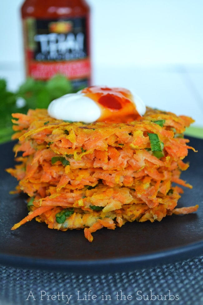 Thai Sweet Potato Latkes {A Pretty Life}