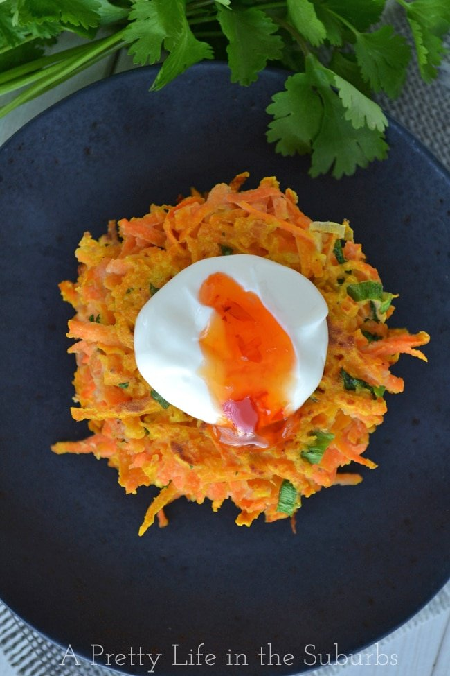 Thai Sweet Potato Latkes {A Pretty Life}