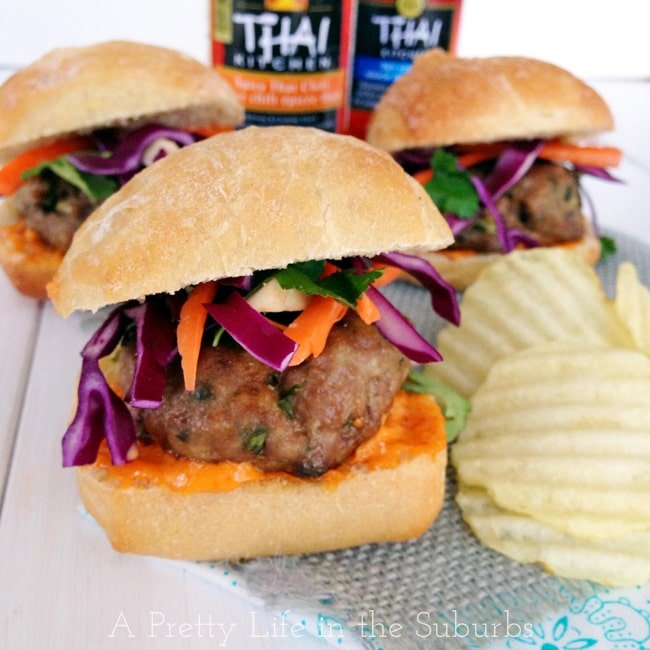 Thai Pork Sliders with Red Curry Aioli