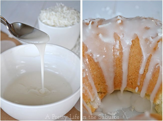 Coconut Pound Cake with Coconut Sugar Glaze {A Pretty Life}
