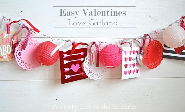 Valentine's Love Light Garland