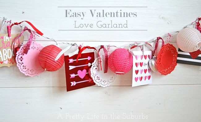 Easy Valentines Light Love Garland {A Pretty Life}