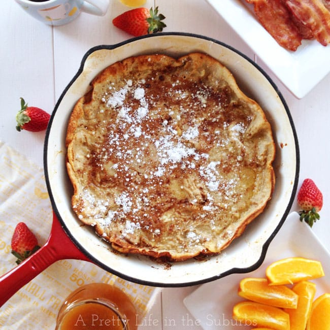 Apple Baked Dutch Baby {A Pretty Life}