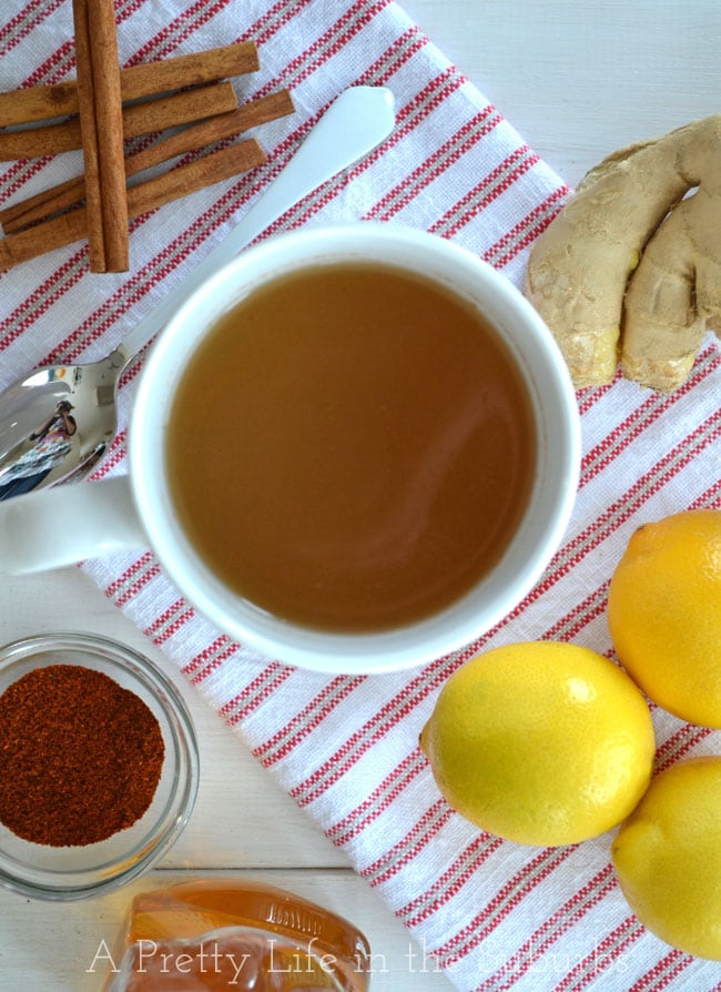 Home-Made-Ginger-Tea-2{A-Pretty-Life}