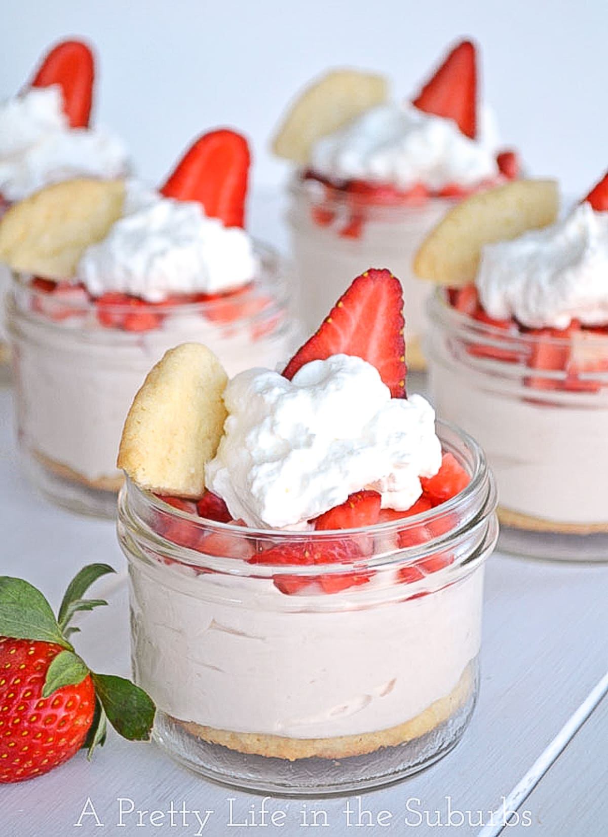Strawberry Sugar Cookie Parfaits
