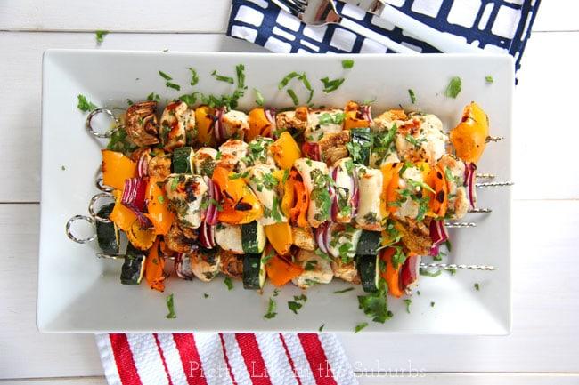 Chicken Cape Kabobs {A Pretty Life}