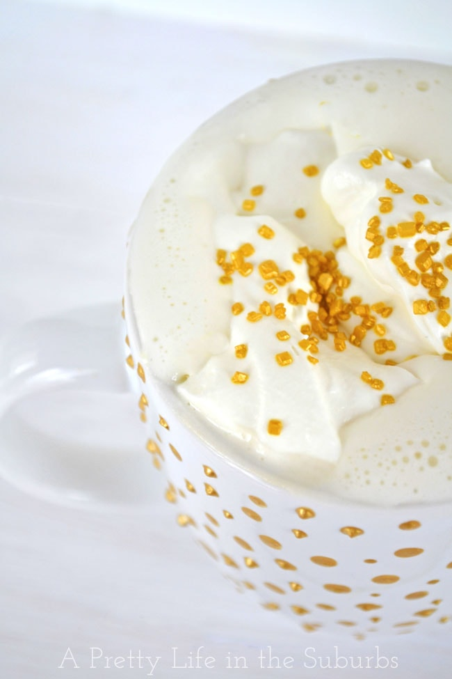 DIY Gold Polka Dot Mug & Irish Coffee {A Pretty Life}