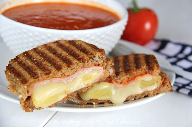 Hawaiian Grilled Cheese {A Pretty Life}
