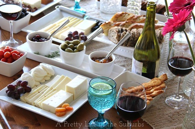 Wine & Cheese Party {A Pretty Life}
