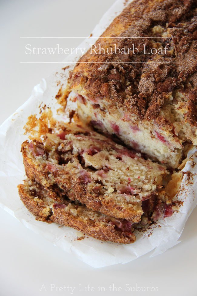 Strawberry-Rhubarb-Loaf-Title2{A-Pretty-Life}