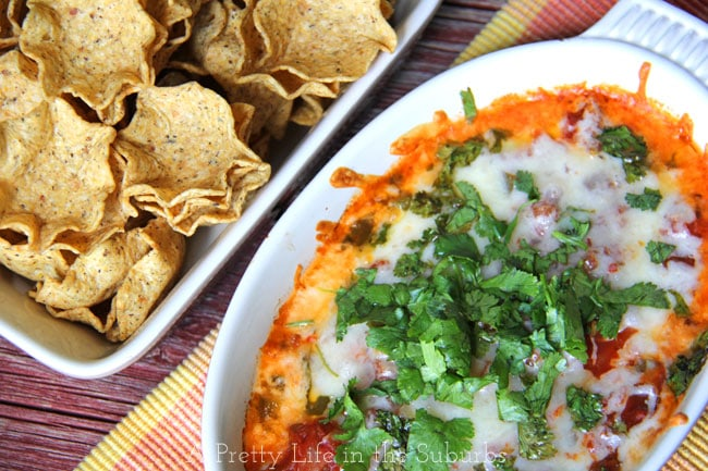Cheese Baked Salsa Dip