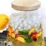 Ginger and Peach Flavored Water