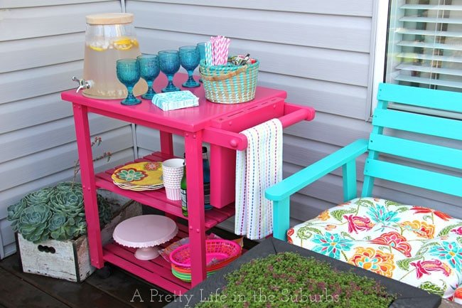 Putting Together a Hostess Cart {A Pretty Life}