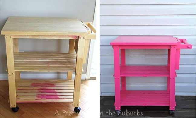 Hostess Cart Before and After {A Pretty Life}