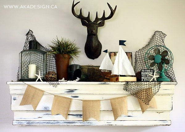 nautical-beachy-summer-mantel