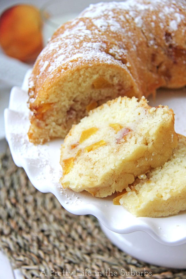 Peach Bundt Cake {A Pretty Life}