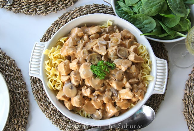 Easy Chicken Stroganoff {A Pretty Life}