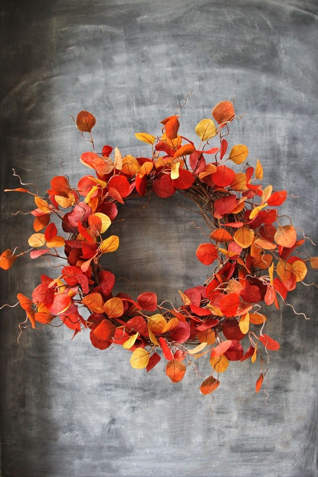 Fabulous Leafy Fall Leaf Wreath