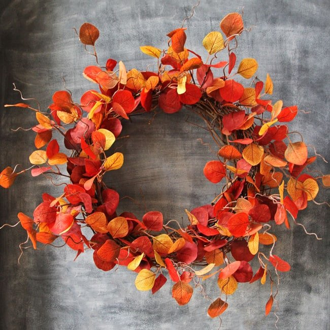 $20 Leafy Fall Wreath